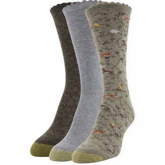 Gold Toe Women's Tapestry Dress Crew Socks 3 Pairs
