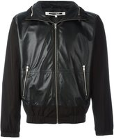 McQ by Alexander McQueen panelled leather jacket - men - Lamb Skin/Polyester - 48