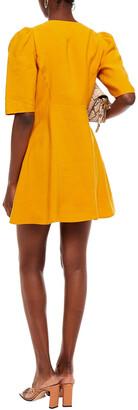 BA&SH Astrid Pleated Lyocell-blend Mini Dress