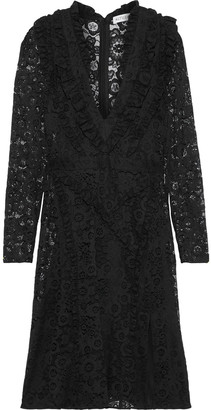 Altuzarra Ourika Ruffle-trimmed Cotton-blend Lace Dress