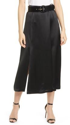 Nicholas Lita Satin Tea Length Skirt