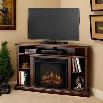 Real Flame Churchill Corner TV Stand for TVs up to 55 inches with Fireplace Included Real Flame Color: Espresso