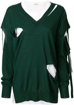 P.A.R.O.S.H. v-neck oversized cut out sweater