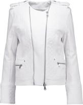 Pierre Balmain Quilted cotton-jersey biker jacket