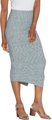 G.I.L.I. Got It Love It G.I.L.I. Petite Asymmetrical Hem Rib Knit Skirt