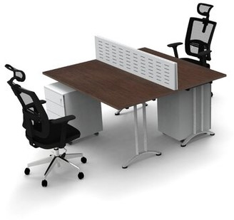 Inbox Zero Work Station Compact Space Maximum Collaboration Rectangular Meeting Table Set Top Finish: Java