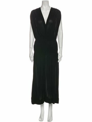 Givenchy V-Neck Long Dress Black