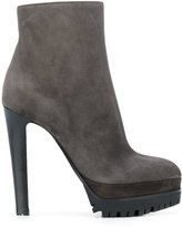 Sergio Rossi heeled platform ankle boots - women - Leather/Suede/rubber - 36