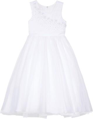 Lauren Marie Imitation Pearl Tulle Dress