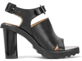 Carven Buckled Leather Sandals