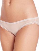 OnGossamer Lace-Trimmed Solid Bikini Bottom
