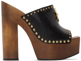 Versace Black Medusa Western High Heel Mules