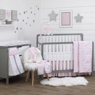 NoJo Girls Unicorn 4 Piece Nursery Crib Bedding Set