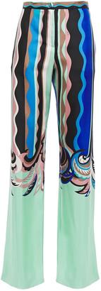 Emilio Pucci Printed Silk-twill Wide-leg Pants
