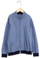 Armani Junior Boys' Mock Neck Zip-Up Sweater