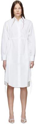 MM6 MAISON MARGIELA White Cotton Open Sleeve Dress