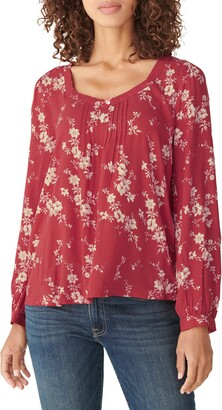 Lucky Brand Modern Peasant Blouse