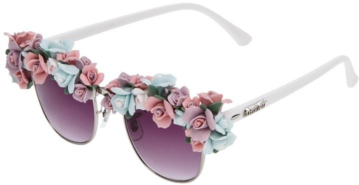 Kerin Rose 'Flower Frenzy' sunglasses