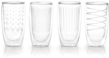Mikasa Cheers Insulated Highball Glasses, Set of 4
