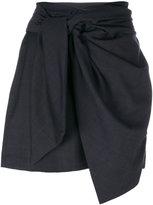 Etoile Isabel Marant asymmetric draped skirt - women - Virgin Wool - 42