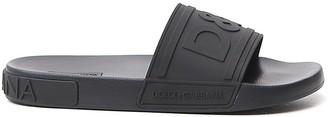 Dolce & Gabbana Logo Embossed Slides