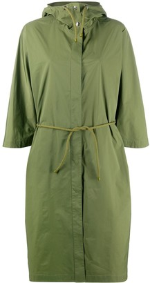 Yves Salomon Drawstring-Waist Hooded Coat