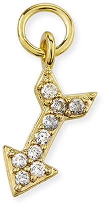 Jude Frances 18K Petite Pave Diamond Arrow Earring Charm, Single