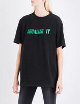 Palm Angels Legalize It cotton-jersey T-shirt