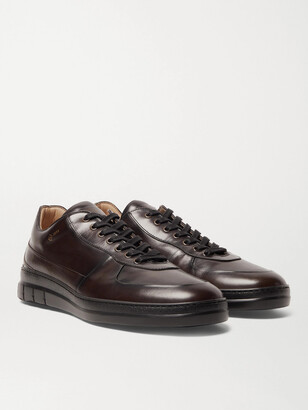 Dunhill Duke Polished-leather Sneakers - Brown