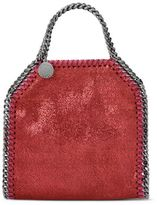 Stella McCartney indian red falabella shiny dotted chamois tiny tote