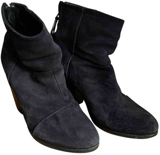 Rag & Bone Navy Suede Ankle boots