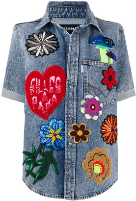 Filles a papa Havana multi-patch shirt