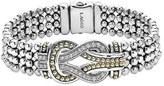 Lagos Women's 'Newport' Diamond Knot Flat Caviar Bracelet