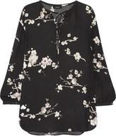Theory Alrik floral-print silk-chiffon blouse