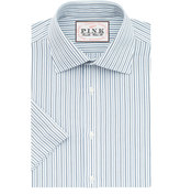 Thomas Pink Lipson Stripe Classic Fit Short Sleeve Shirt