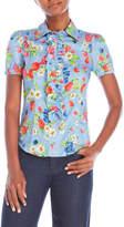 Love Moschino Floral Ruffle Shirt