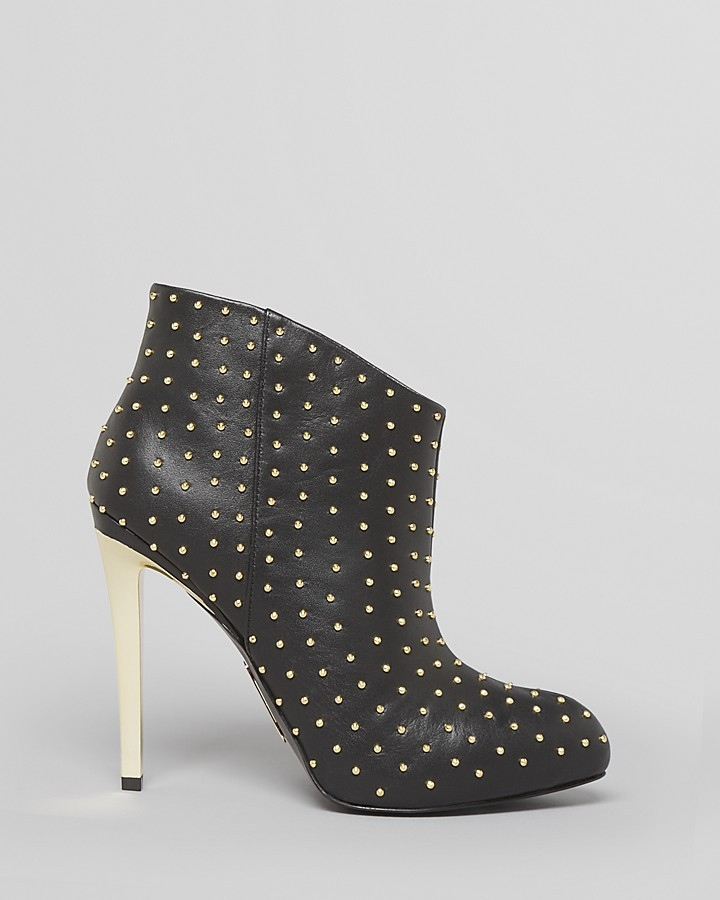 Boutique 9 Platform Booties - Faustine Studded High Heel
