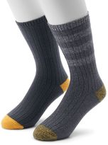 Men's Climatesmart Plushfill Rugby-Striped & Solid Outdoor Casual Crew Socks