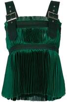 Sacai micro-pleated babydoll top