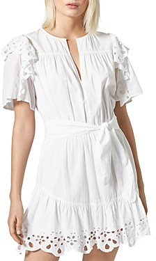 Joie Safia Ruffled Tie-Waist Dress