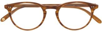 Garrett Leight matte demi blonde glasses
