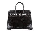 Hermes pristine (PR HSS Bicolore Crocodile Porosus 35cm Birkin Bag with Palladium Hardware