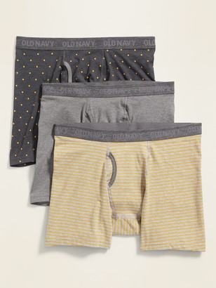 Old Navy Soft-Washed Built-In Flex Boxer Briefs 3-Pack for Men