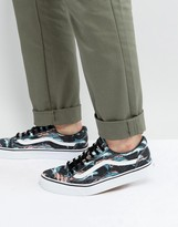 Vans Old Skool Trainers With Dolphin Print In Beige Va38g1moz