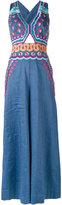 Temperley London embroidered jumpsuit - women - Cotton/Linen/Flax/Spandex/Elastane/Wool - 8