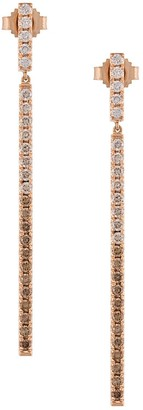 Eva Fehren 18kt rose gold Line diamond earrings