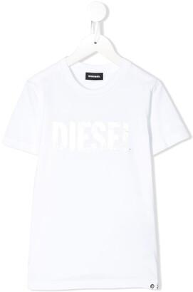 Diesel TSilywh foil-print cotton T-shirt