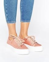 Sixty Seven SixtySeven Sixtyseven Flatform Satin LaceUp Sneaker
