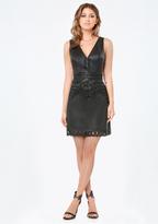 Bebe Talia Faux Leather Dress