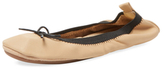 Yosi Samra Sandrine Bow Leather Ballet Flat